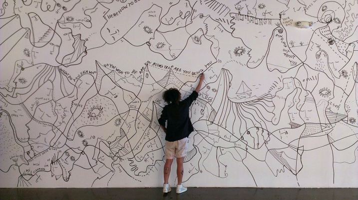 Shantell Martin draws
